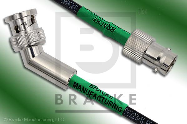 BNC Male 45 Degree to BNC Female Cable Assembly RG223/U