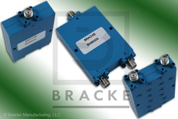 SMA Female Power Divider Frequency Range 2-8 GHz 2 Output Ports, VSWR 1.35:1 Max