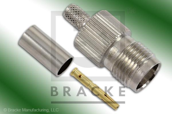 TNC Female Connector Crimp RG55, RG141, RG142, RG223, RG400