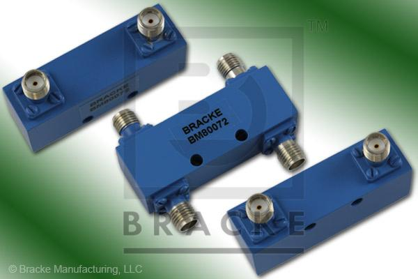 SMA Female 90 Degree Hybrid Frequency Range 4.0-12.4 GHz Coupling Loss 3.5+/-.4dB Max, VSWR 1.50