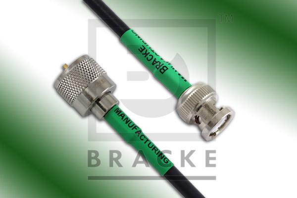 BNC Male to UHF Male Cable Assembly RG58C/U