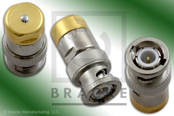 50 Ohm BNC Male Termination no Chain, 1% Tolerance, 1/2 Watt