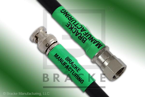 F Male to 75 Ohm BNC Male Cable Assembly RG6A/U