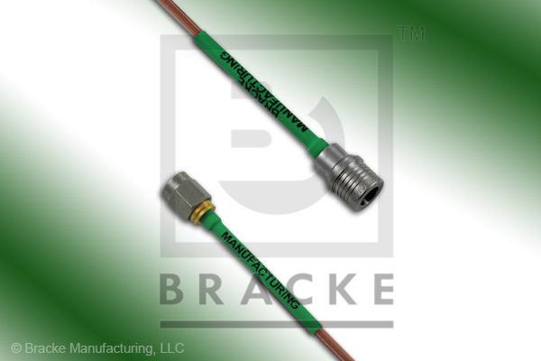 QMA Male to SMA Male Cable Assembly RG405/U