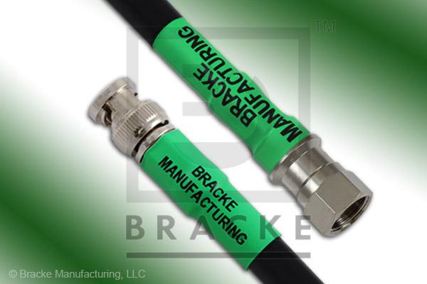 F Male to 75 Ohm BNC Male Cable Assembly RG216/U