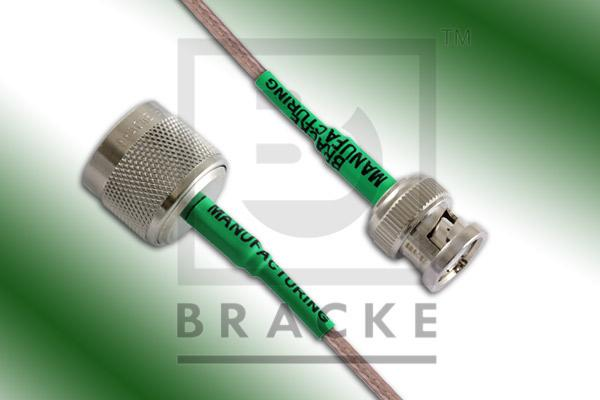 BNC Male to N Male Cable Assembly RG316/U