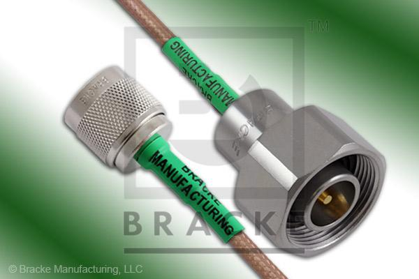 4.1/9.5 Din Male to N Male Cable Assembly RG142B/U