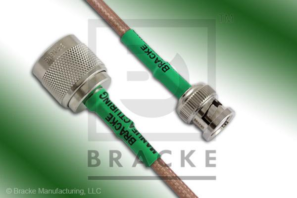 BNC Male to N Male Cable Assembly RG142B/U