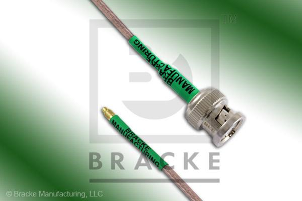 MMCX Plug to BNC Male Cable Assembly RG316/U