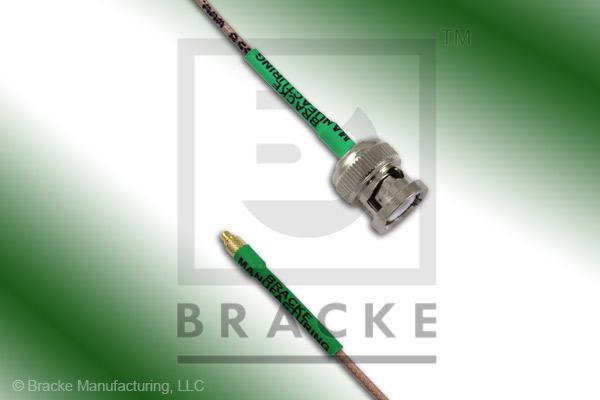 MMCX Plug to BNC Male Cable Assembly RG178B/U