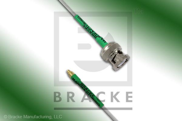 MMCX Plug to BNC Male Cable Assembly RG196A/U