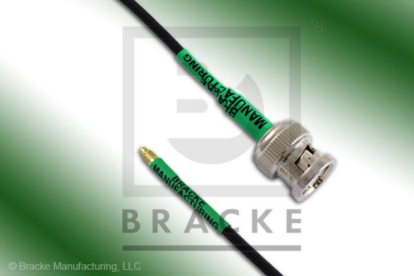 MMCX Plug to BNC Male Cable Assembly RG174A/U