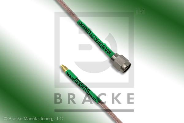 MMCX Plug to SMA Male Cable Assembly RG316/U
