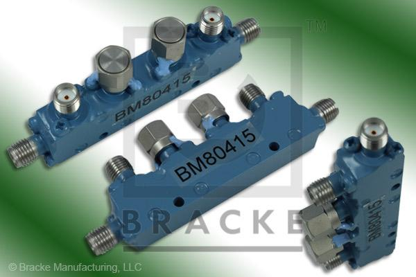 SMA Female Dual Directional Coupler, Freq. 7-12.4 GHz Coupling 10 +/- 1.25 dB
