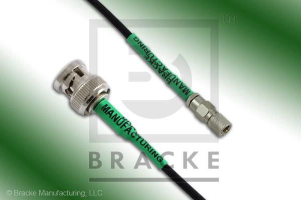 10-32 Male to BNC Male Cable Assembly RG174A/U