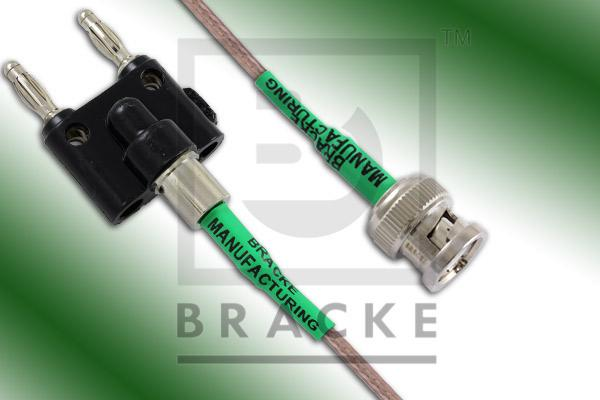 Banana Plugs to BNC Male Cable Assembly RG316/U
