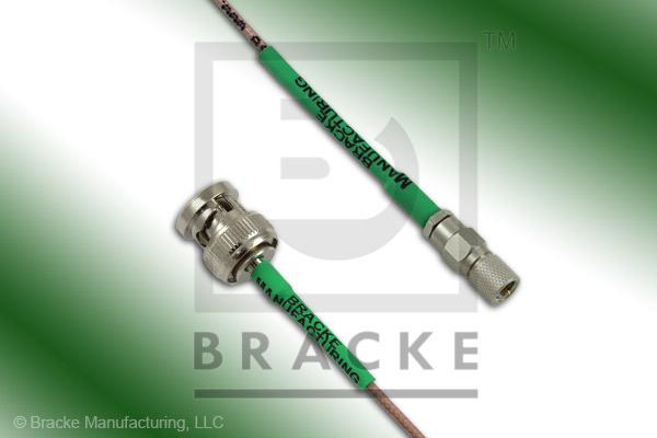 10-32 Male to BNC Male Cable Assembly RG178B/U