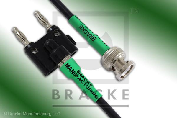 Banana Plug to BNC Male Cable Assembly RG58C/U