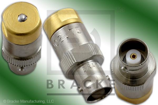 75 Ohm BNC Female Termination no Chain, 1% Tolerance, 1/2 Watt