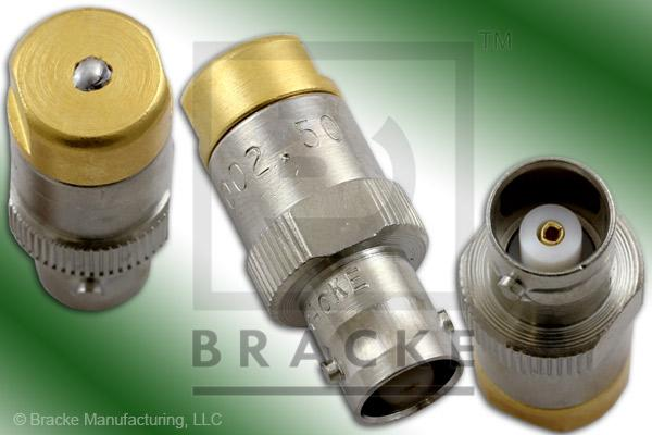 50 Ohm BNC Female Termination no Chain, 1% Tolerance, 1/2 Watt