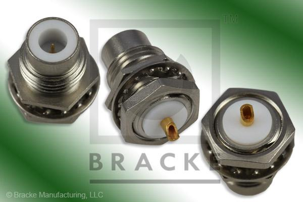75 Ohm SMC Jack Bulkhead Front Mount Connector Solder Cup Contact