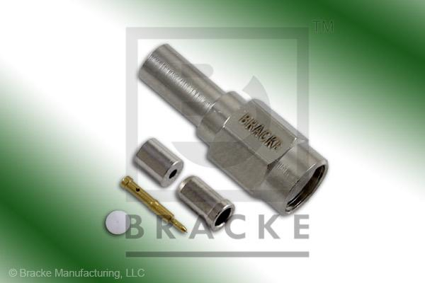 SSMA Male Connector Crimp RG178, RG196