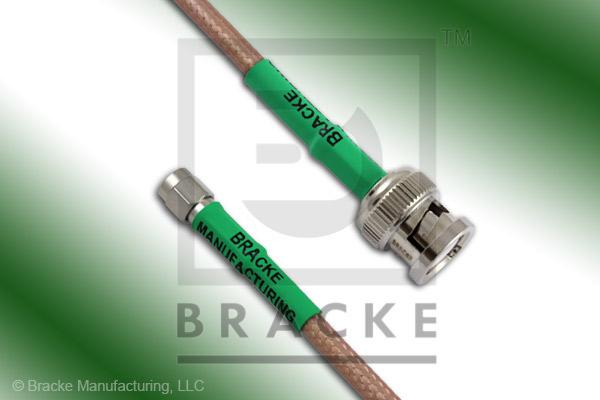 BNC Male to SMA Male Cable Assembly RG142B/U