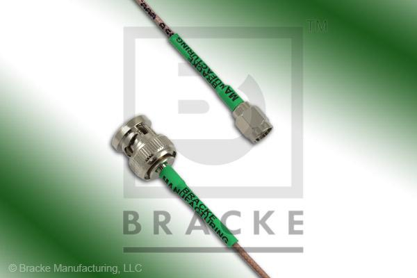 BNC Male to SMA Male Cable Assembly RG178B/U