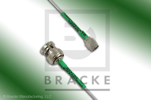 BNC Male to SMA Male Cable Assembly RG196A/U