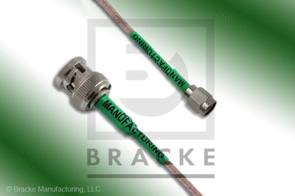 BNC Male to SMA Male Cable Assembly RG316/U