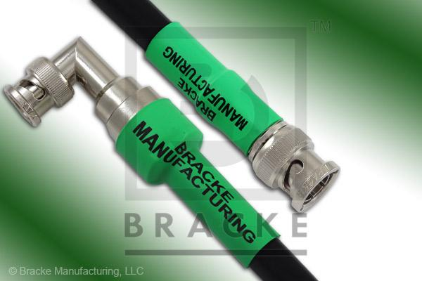 75 Ohm BNC Male to 75 Ohm BNC Male Right Angle Cable Assembly RG6A/U