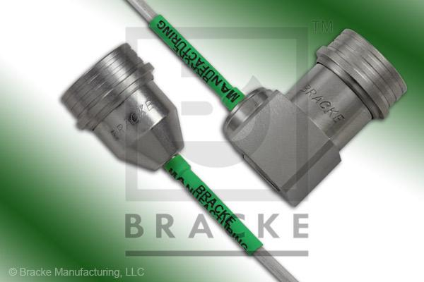 QN Male to QN Male Right Angle Cable Assembly RG402-Alum