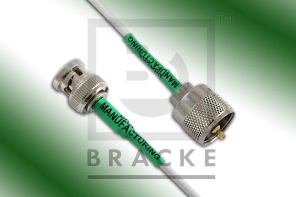 BNC Male to UHF Male Cable Assembly RG188A/U