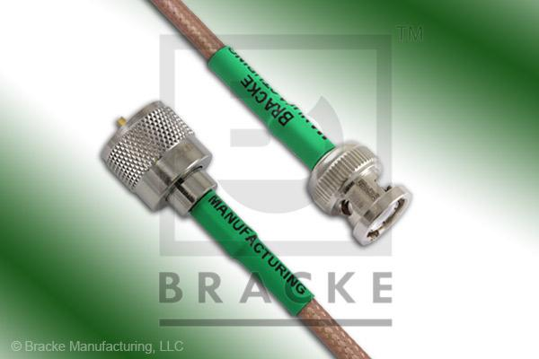 BNC Male to UHF Male Cable Assembly RG400/U