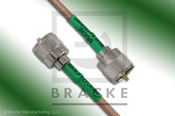 UHF Male to UHF Male Cable Assembly RG142B/U