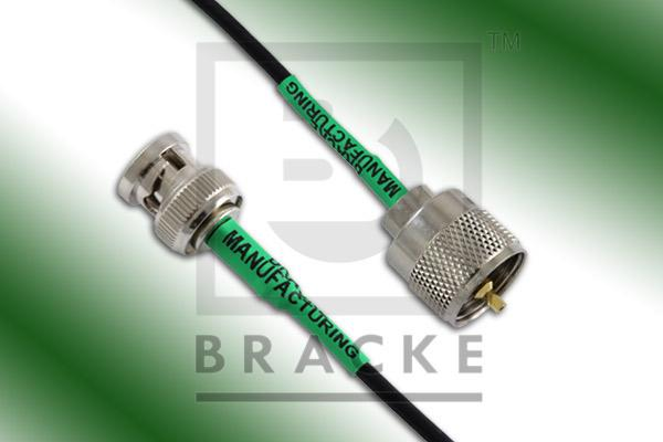 BNC Male to UHF Male Cable Assembly RG174A/U