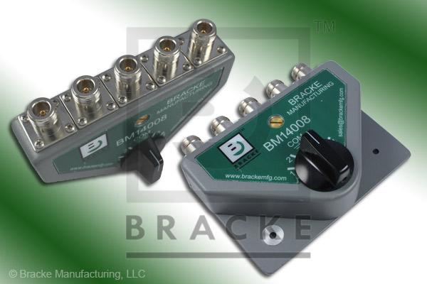 50 Ohm N Female 4 Way Manual Switch with Surge Protection Frequency Range 30 MHz to 1.6 GHz