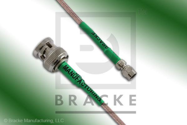BNC Male to SMC Plug Cable Assembly RG316/U