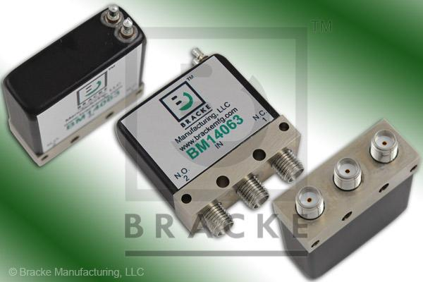 SMA Female SPDT Relay Switch Freq Range DC-22 GHz, 28 Vdc Features: Failsafe, Max VSWR 1.20:1