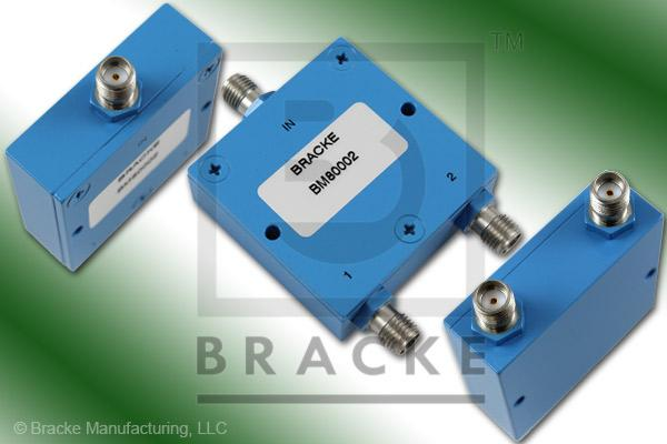 SMA Female Power Divider Frequency Range 2-4 GHz 2 Output Ports, VSWR 1.30:1 Max