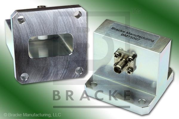 Waveguide to Coax Adapter SMA Female WR-102 Frequency Range 7.00-11.00 GHz