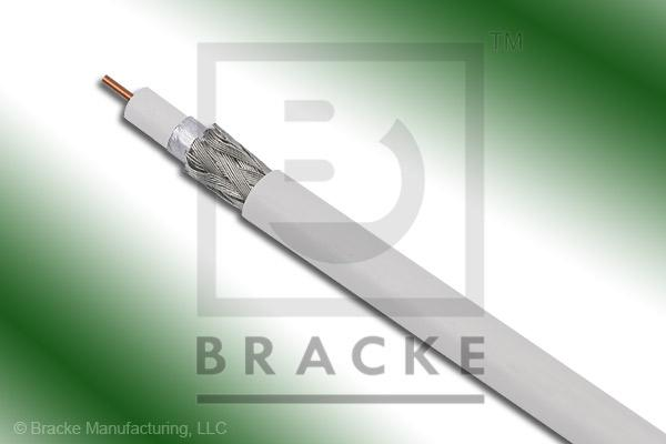 "75 Ohm, 59 Mini White Bulk Cable PVC Jacket, .159"" Dia., 2 Shields Solid Center Conductor .023"""