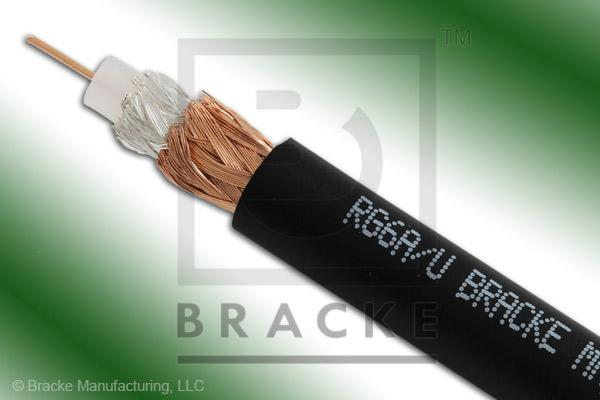 "75 Ohm, RG6A/U Bulk Cable PVC Jacket, .332"" Dia., 2 Shields Solid Center Conductor .0285"""