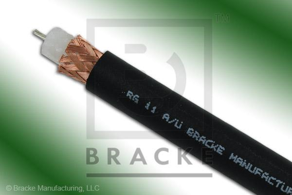 "75 Ohm, RG11A/U Bulk Cable, PVC Jacket, .405"" Dia., 1 Shield, Stranded Center Conductor .048"""