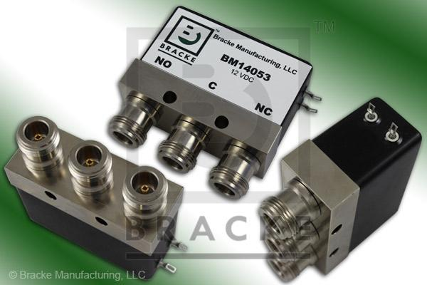 N Female SPDT Relay Switch DC-4 GHz, Max VSWR 1.30:1 Feature: Failsafe, Actuating Voltage 12