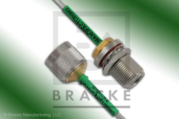 N Female Bulkhead to N Male Cable Assembly RG402-Alum