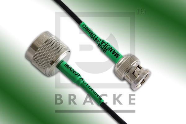 BNC Male to N Male Cable Assembly RG174A/U