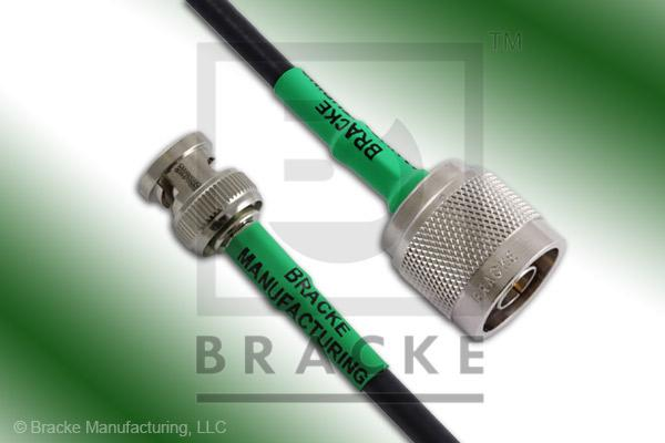 BNC Male to N Male Cable Assembly RG223/U