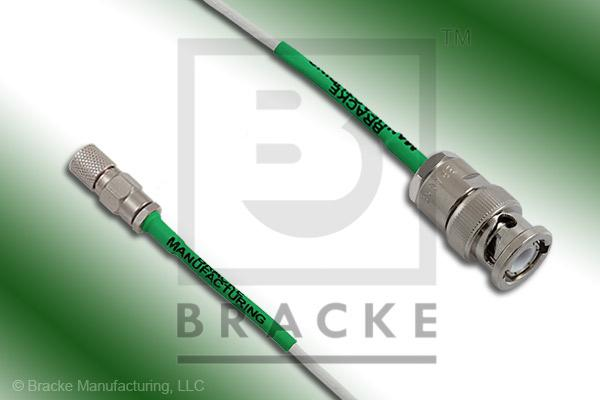 10-32 Male to BNC Male Cable Assembly RG196A/U
