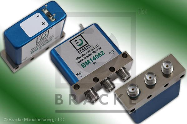 SMA Female SPDT Relay Switch Freq. Range DC-18 GHz, 28 Vdc Feature: Failsafe, Max VSWR 1.20:1